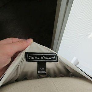 Jessica Howard Dresses - Black and White Striped Maxi
